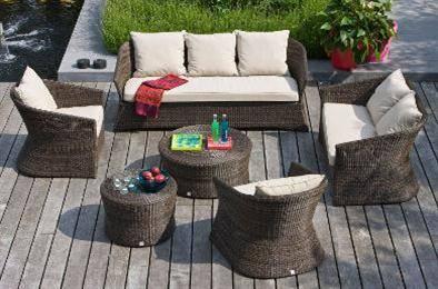 Salon de jardin en résine et aluminium - Meubles et literie ...